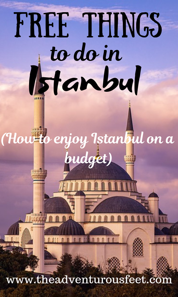 Not sure how to enjoy Istanbul on a budget? Here are the top free things to do in Istanbul. Click to read the full article. #freethingsinistanbul #Istanbulonabudget #traveltoturkey #bluemosque #hagiasophia #Istanbul #Turkey