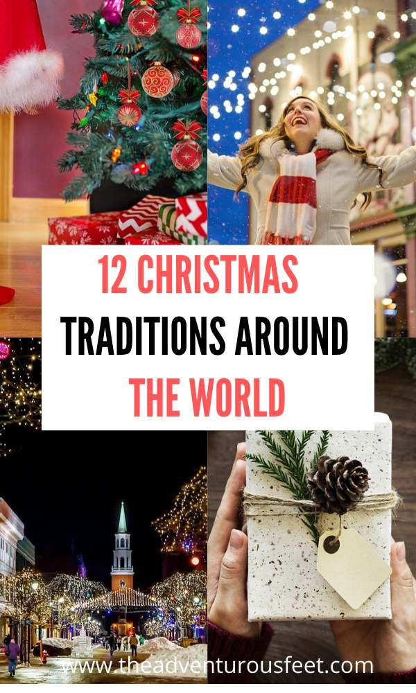 Unique christmas traditions around the world| how christmas is celebrated around the world | christmas celebrations in the world #theadventurousfeet #christmasaroundtheworld