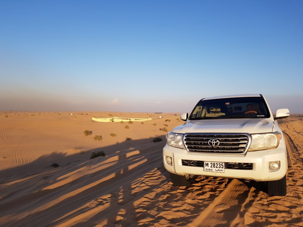 A desert safari is one of the fun activities to do in Dubai #dubaiactivities #whattodoindubai