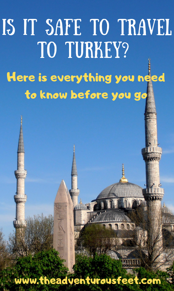 Is it safe to travel to Turkey? This post details everything you need to know about Turkey's safety before you go. #isturkeysafetotravelto #safetyinturkey #whatyoushouldknowaboutturkey'ssafety #traveltoturkey #isitsafetotravelinistanbul #istanbul #visitturkey