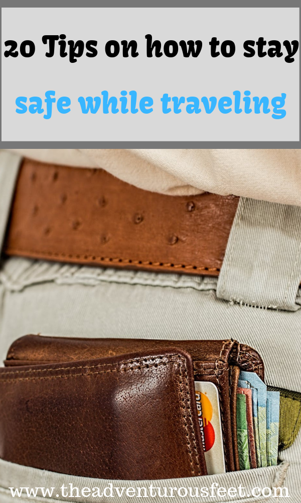Looking for tips to traveling safely? Read this post to get the top 20 travel safety tips #safetytipsfrotraveling #travelerssafetytips