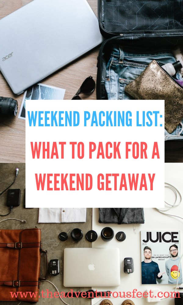 Wondering what to pack for a weekend away? Here is the ultimate weekend packing list to guide you. #weekendtrippackinglist #minimalistweekendpackinglist #weekendpackinglist #weekendtravelpackinglist #weekendpacking #traveltips #weekendpackingchecklist #weekendawayessentials