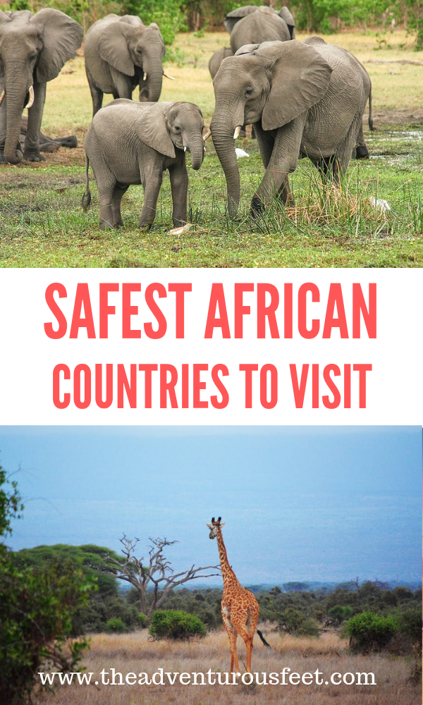 Looking for the best African destination country to travel to? Here are the safest African countries to visit. #countriestovisitinAfrica #africansafari #safestcountriesinafricatovisit #destinationafrica