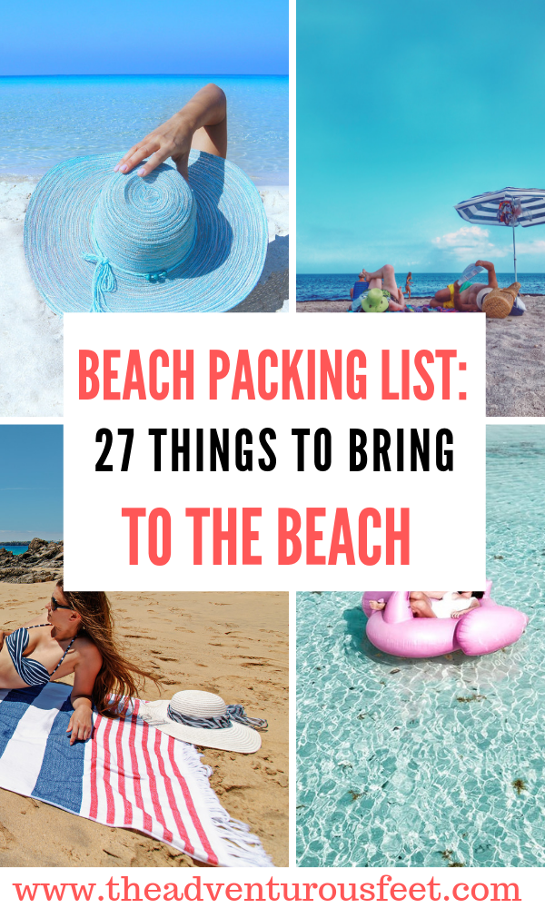 Planning to go to the beach? Here is the list of things to bring to the beach. #beachpackinglist #beachoutfit #beachpackinglistforwomen #beachpackinglistformen #whattobringtothebeach #thingstopackforthebeach