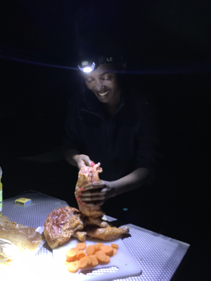 cook your own meals while camping botswana