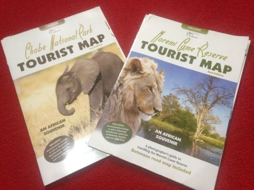 buy these tourist maps while on a safari botswana