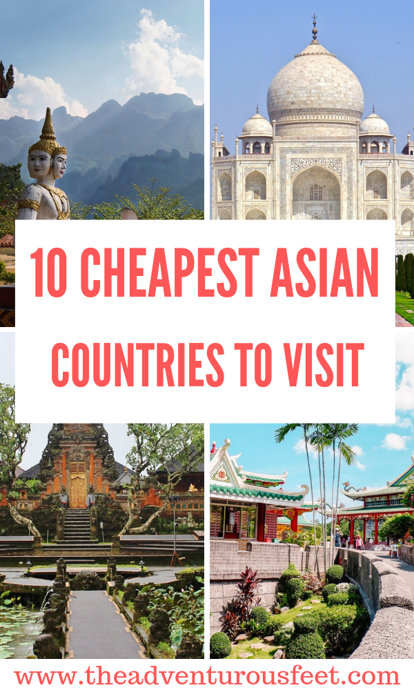 Want to travel to Asia on a budget? Here are the cheapest countries to visit in Asia. | cheapest places in Asia | cheapest places to travel in Asia| cheap places to visit in Asia | places to visit in Asia | budget destinations in Asia| budget travel destinations southeast asia |travel destinations in Asia | cheap cities in Asia | bucket list places in asia | countries to travel to in asia #cheapplacesinasia #asiatravelpalces #cheapestdestinationsinasia #mostcheapplacesinasia #theadventurousfeet