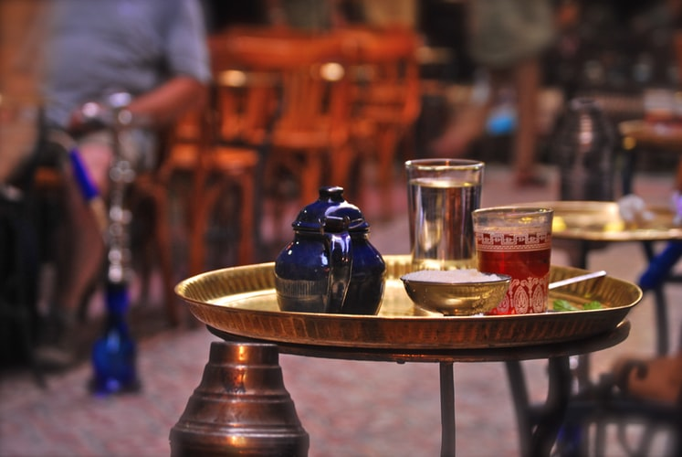 tea at Khan El Khalili market.