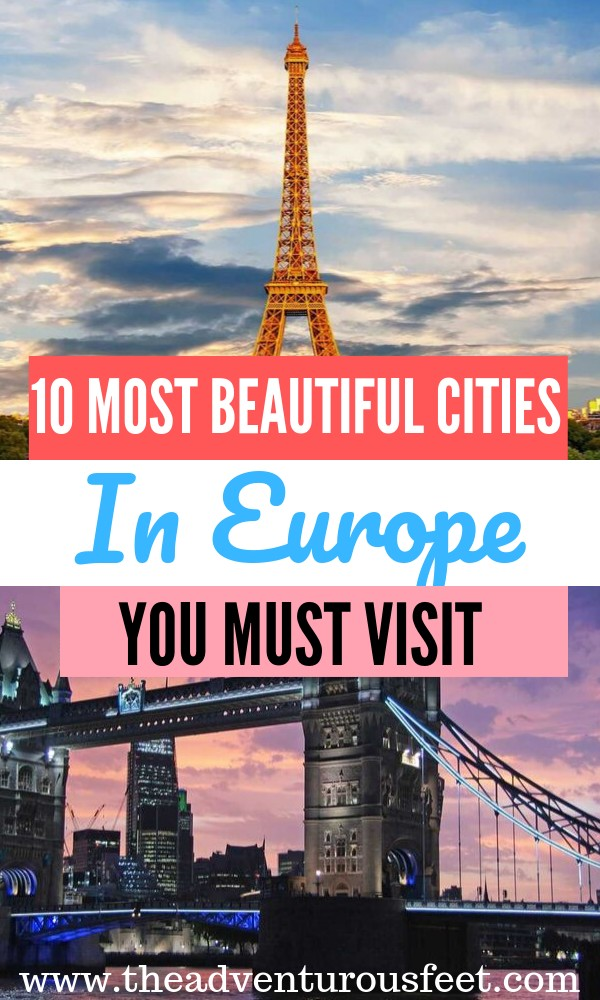 Looking for the most beautiful cities in Europe? This Europe bucket list will inspire you. | Best places to visit in Europe | Best cities to visit in Europe| The ultimate European bucket list| prettiest cities in Europe| Top European cities to visit| Amazing cites to visit in Europe| Best cities to visit in Euroep| #Europebucketlist #Beautifulcitiesineurope