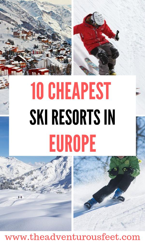 Looking to go for a great ski holiday in Europe but on a budegt? Here are the cheapest ski resorts in Europe to enjoy this winter. |budget ski resorts in Europe |cheap ski holidays in Europe |cheapest European ski resorts | best value ski resorts in Europe #skiinginEurope #cheapestskiresortsineurope #theadventurousfeet