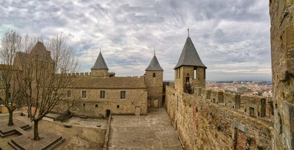 Château Comtal de Carcassonne is one of the castles in south france to visit