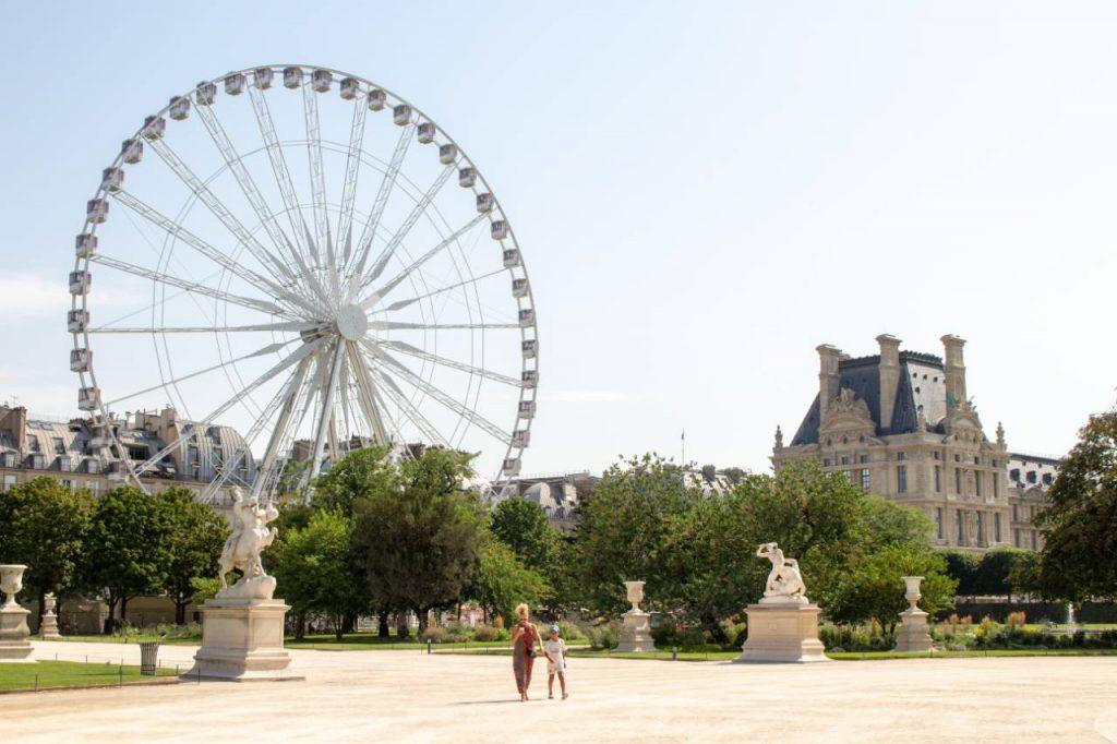The Tuileries park in paris