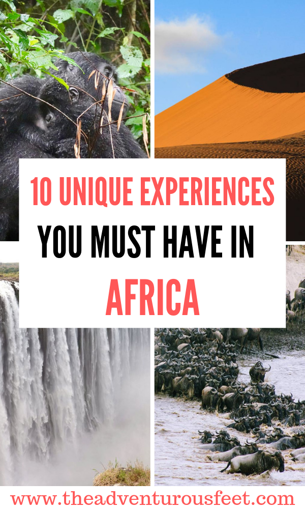 Going to Africa? These are the best African adventures you shouldn't miss out. | must do African adventures | Experiences not to miss in Africa| what to do in Africa | things to do in Africa | experiences to have in Africa #africanadventures #africabucketlist