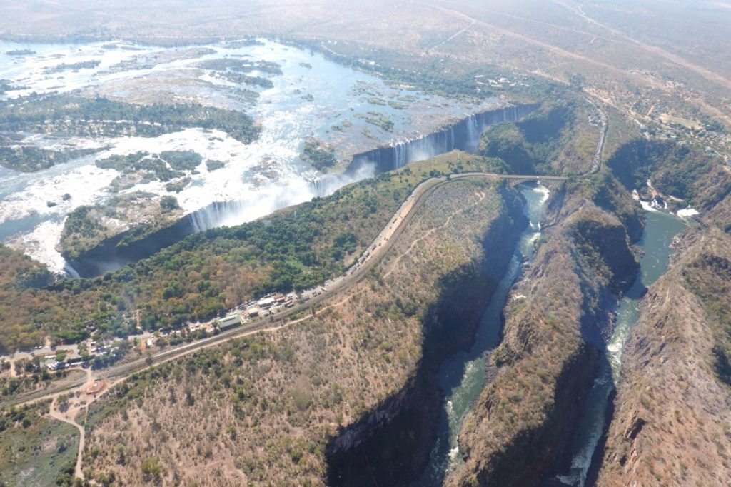 flying over the falls