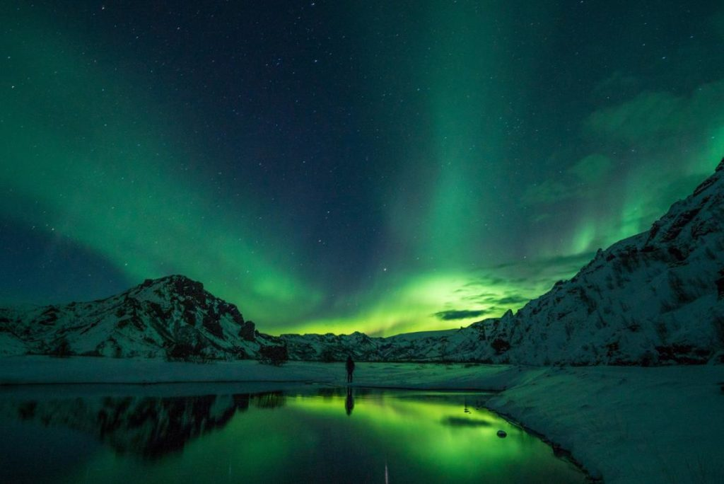 Reykjavik, Iceland is where you can go to see the northern lights of Europe
