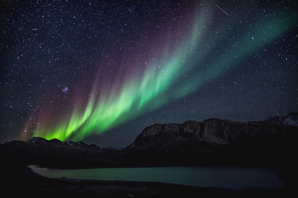 greenland is one of the places where to see the northern lights in europe