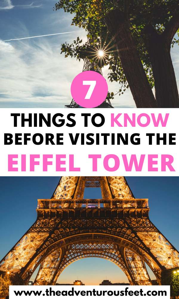 Visiting the eiffel tower for the first time? Here is everything you need to know.| tips for visiting the eiffel tower | how to get to the eiffel tower | how to skip the lines at the eiffel tower| prices of the entry tickets to the eiffel tower | things to do at the eiffel tower | eiffel tower visit tios | the ultimate guide to visiting the eiffel tower |opening hours of the eiffel tower |visiting the eiffel tower tips |best time to visit the eiffel tower #tipsforvisitingtheeiffeltower #eiffeltowertips #theadventurousfeet
