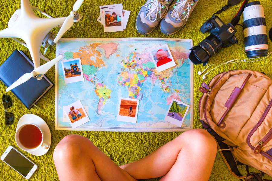 creating home decor out of travel items