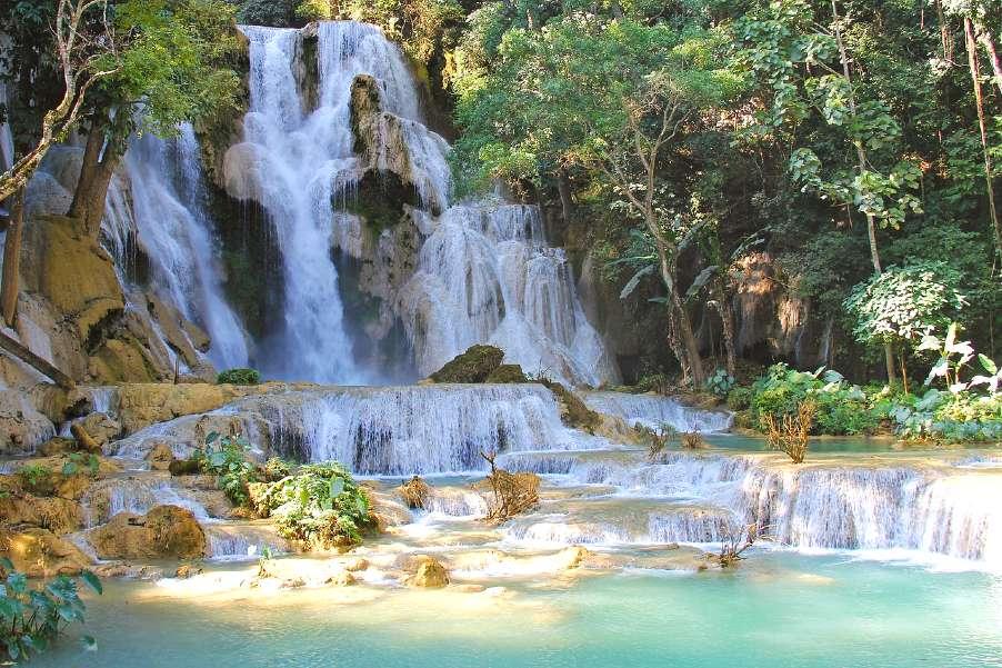 Kuang Si Waterfall- asia bucket list