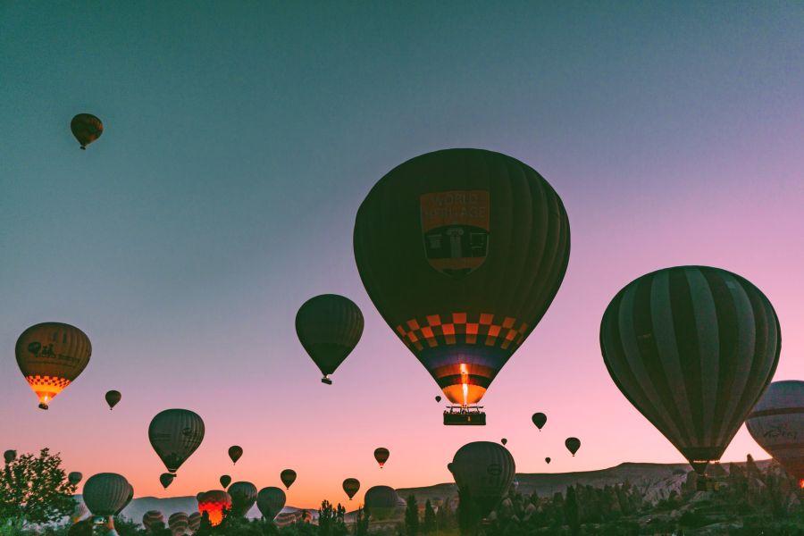 hot air ballon in cappadocia