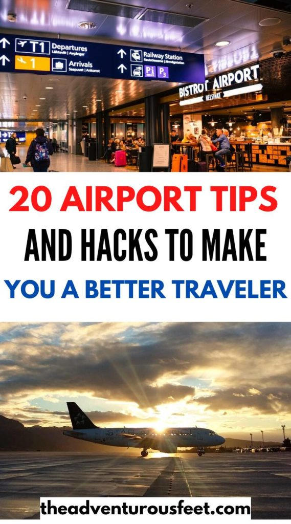 Want to travel like a pro? Here are the best airport tips and hacks you need to know| carry on airport tips| airport tips for first timers |airport tips and hacks | airport hacks and tricks | airport security tips | things to do at the airport | things not to do at the airport| things to do in an airport |travel tips for the airport |mistakes to avoid at the airport| airport tricks travel hacks #airporttipsandtricks #airporttipsandhacks #theadventurousfeet #airporttraveltips