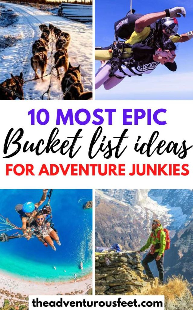 Want to add new items on your bucket list? Here are the crazy bucket list ideas to inspire you| adventurous bucket list ideas|bucket list things to do| ultimate bucket list ideas| things to put on your bucket list| best adventure activities in the world| unique bucket list ideas| bucket list examples| adrenaline junkie activities| fun bucket list ideas | adrenaline junkie bucket list| travel bucket list ideas #bucketlistideas #bucketlistitems