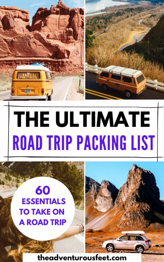 Going on a road trip? Here is the complete road trip packing list with everything you'll need> Packing list for a road trip| road trip essentials to pack|things to bring on a road trip|road trip checklist | what to pack for a road trip|essentials for a road trip |road trip packing list #packinglistforroadtrips #packinglistroad trip #roadtripmusthaves