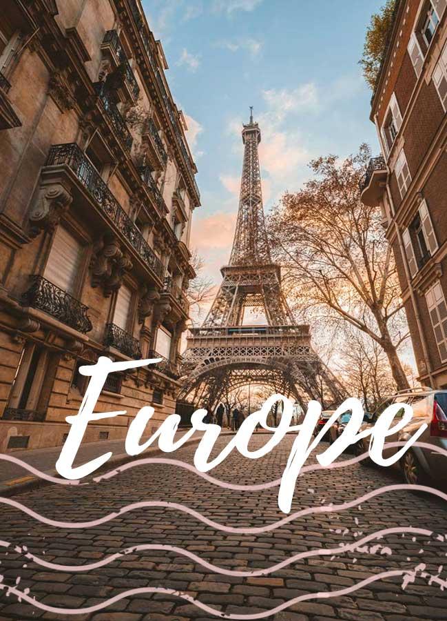 Europe destinations