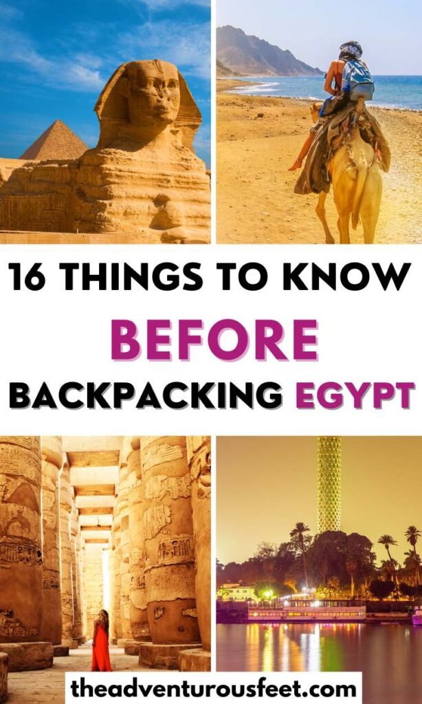 Are you planning a backpacking trip to Egypt? Here is everything you need to know before you go.| tips for backpacking Egypt| Things to know before backpacking in Egypt| Egypt travel tips| traveling to Egypt tips| travel tips for Egypt| tips for Egypt| travel guide to Egypt| Egypt travel guide| Egypt backpacking guide | Backpack Egypt|  backpacking through Egypt