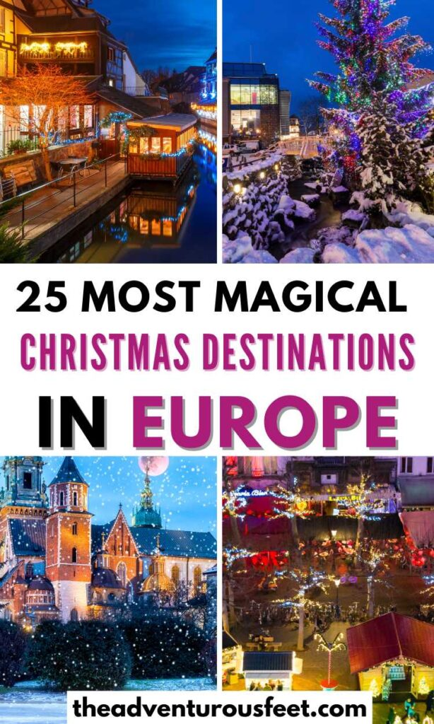 Looking for places to visit in Europe during Christmas? Here the best European Christmas destinations that you'll enjoy.| best Christmas destinations in Europe| Christmas holiday destinations in Europe| best Christmas vacation destinations in Europe| Christmas travel destinations in Europe| best places to spend Christmas in Europe| best European cities at Christmas| best European cities to visit at Christmas| best places to visit in Europe during Christmas| Christmas in Europe winter wonderland