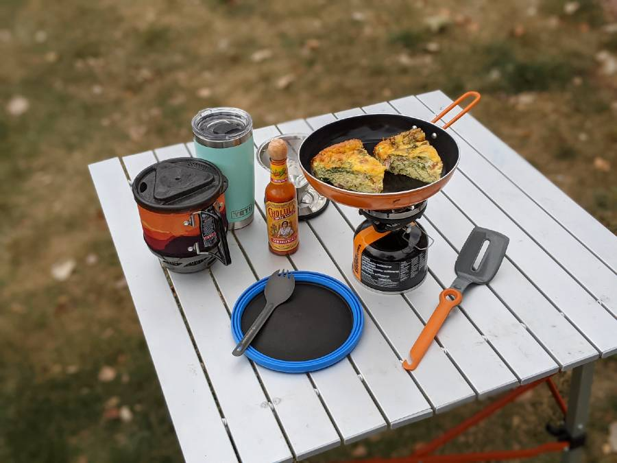 camping breakfast quiche